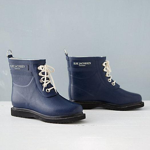 View larger image of Ilse Jacobsen Laced Rain Boot, Short