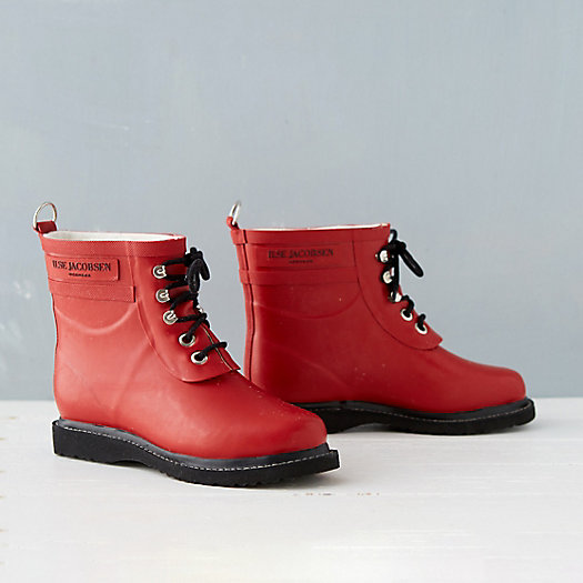 View larger image of Ilse Jacobsen Laced Rain Boot, Short