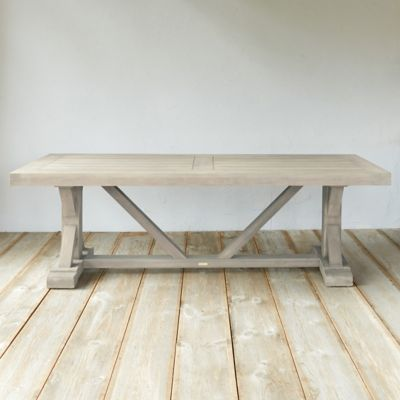 Protected Teak Trestle Dining Table