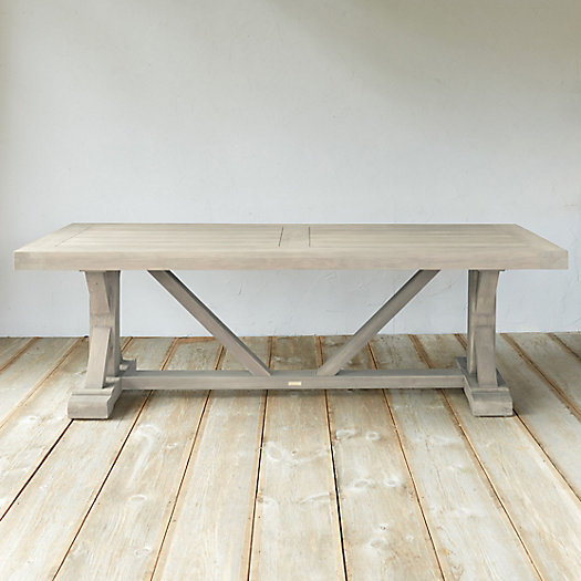 View larger image of Protected Teak Trestle Dining Table