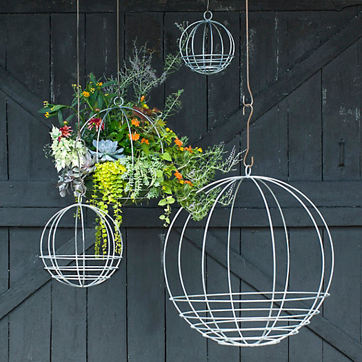 View larger image of Zinc Sphere Hanging Basket