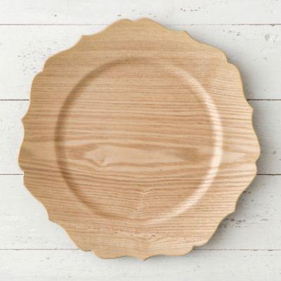 Decorative Woodgrain Charger