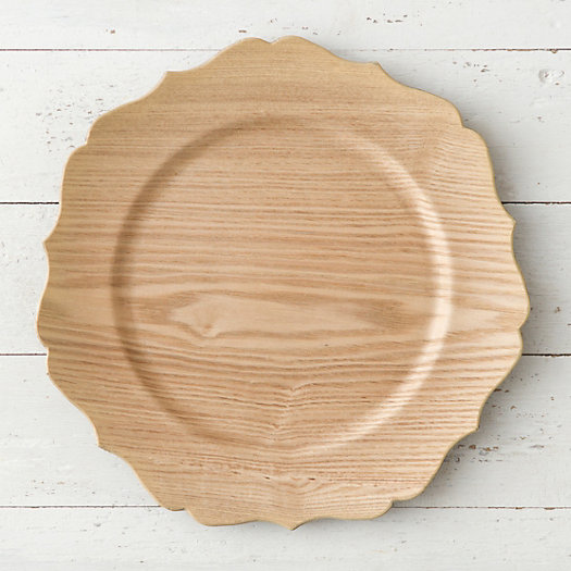 View larger image of Decorative Woodgrain Charger