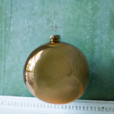 Enamel Globe Ornaments, Set of 6