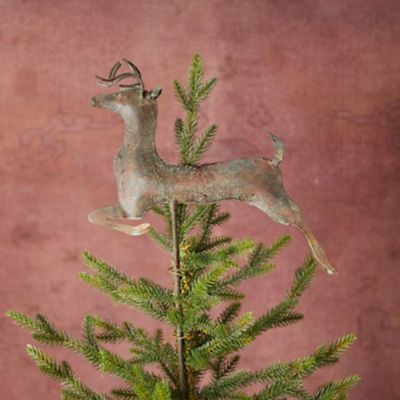 Verdigris Stag Tree Topper