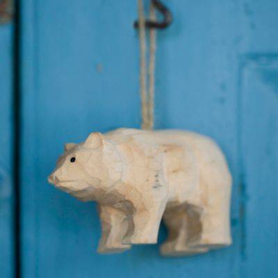 Carved Bear Ornament