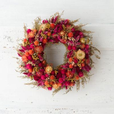 Carmine Garden Wreath