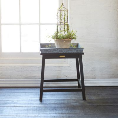 Protected Teak Plant Stand, Low