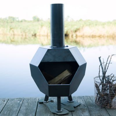 Prism Steel Chiminea