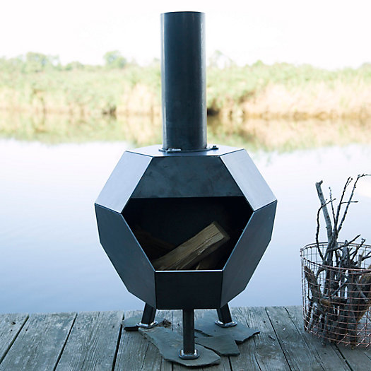 View larger image of Prism Steel Chiminea
