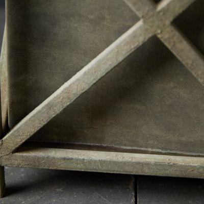 Iron Cross Frame Planter