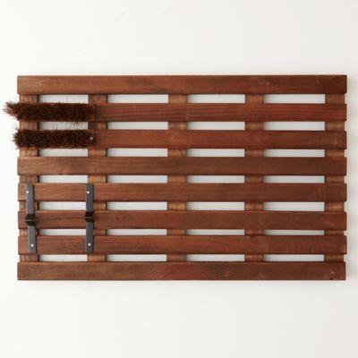 Wooden Grate Doormat