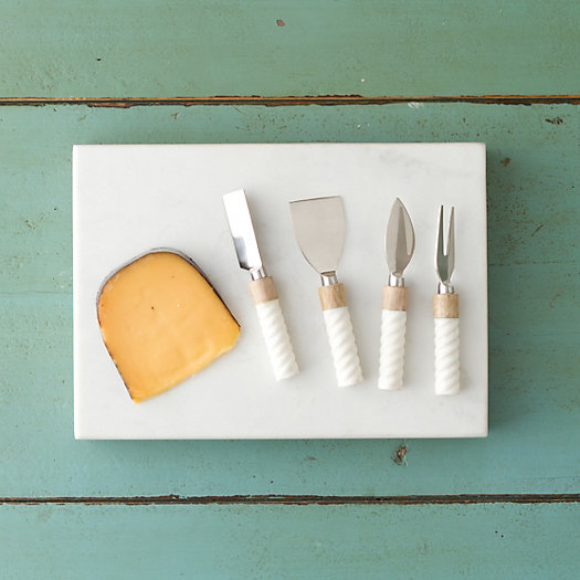 View larger image of Marble & Wood Cheese Serving Set