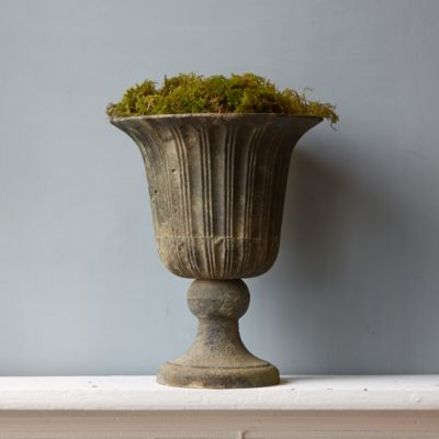 Fluted Cast Iron Urn