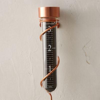 Copper & Glass Rain Gauge