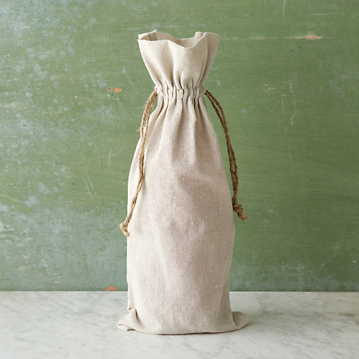 View larger image of Linen Wine Bag