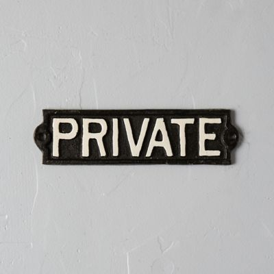 Cast Iron Private Sign