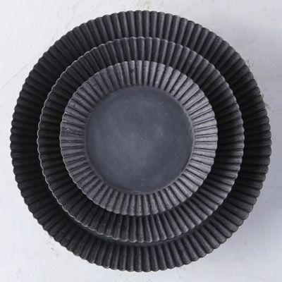 Habit + Form Tart Plant Tray, Dark Zinc