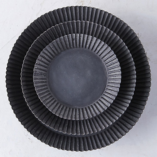 View larger image of Habit + Form Tart Plant Tray, Dark Zinc