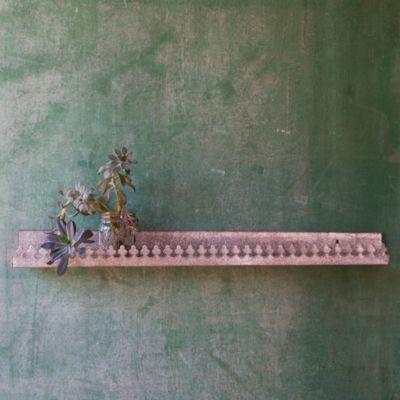 Zinc Curio Shelf