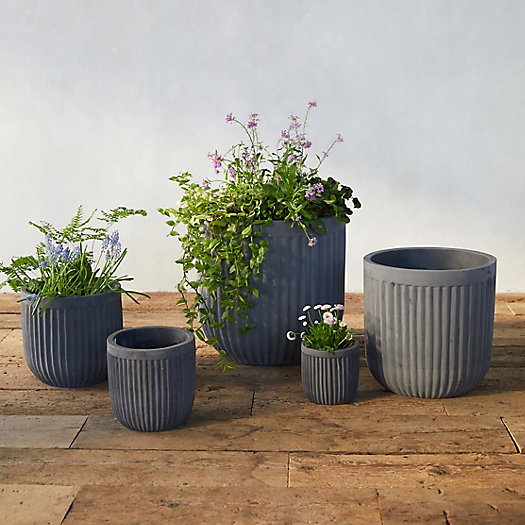 View larger image of Fiber Concrete Barrel Pot