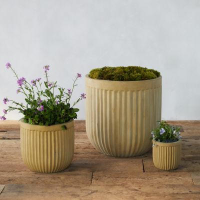 Fiber Concrete Barrel Pot