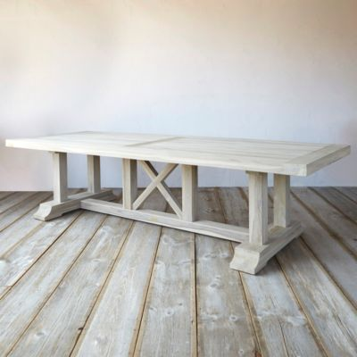 Protected Teak Country Dining Table