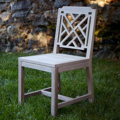 Lattice Teak Side Chair