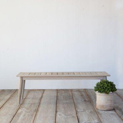 Protected Teak Dining Bench Terrain