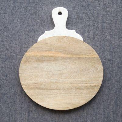 Marble Handle Serving Board