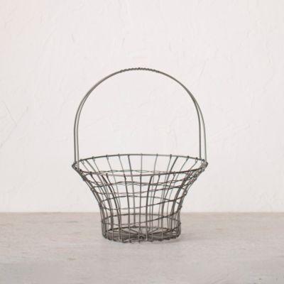 """Wire Flared Basket, 9"""""""