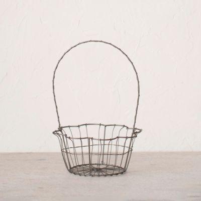 """Wire Flower Basket, 8"""""""