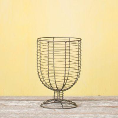 """Wire Urn Basket, 8"""""""