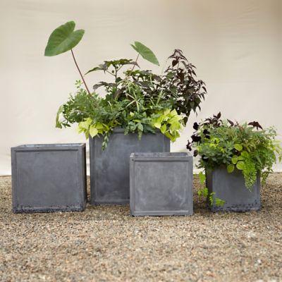 Fiberclay Cube Planter