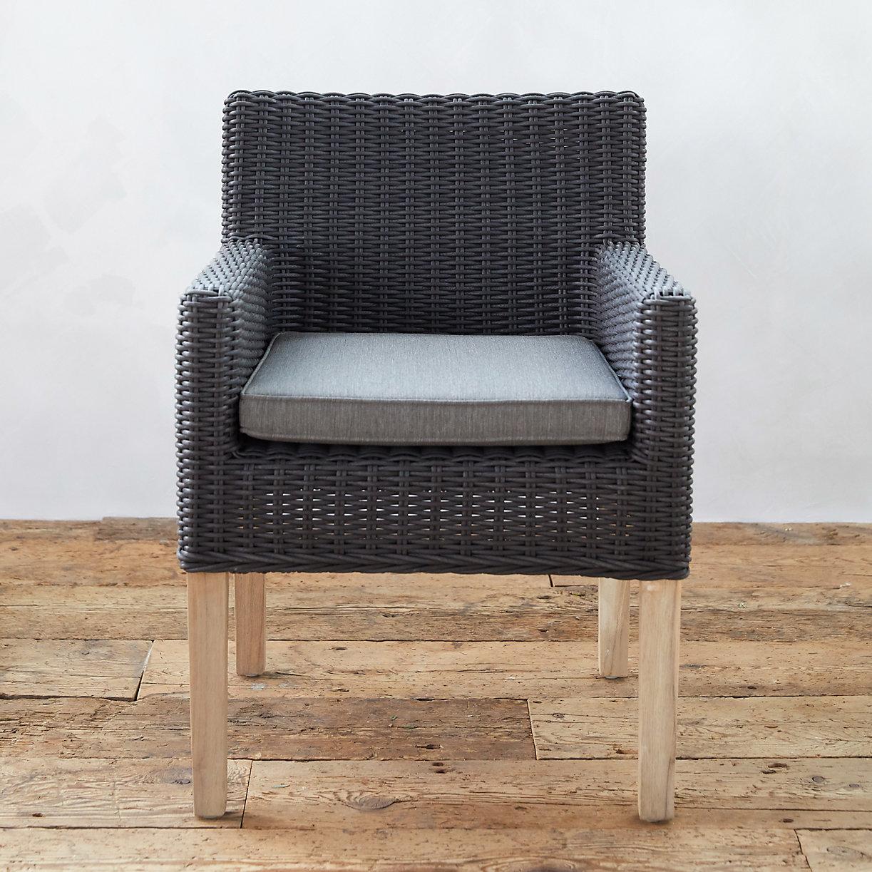 All Weather Wicker Teak Chair Terrain