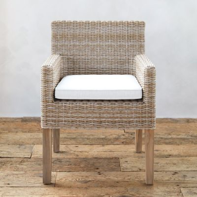 All Weather Wicker + Teak Armchair
