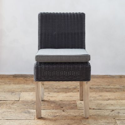 All Weather Wicker & Teak Side Chair