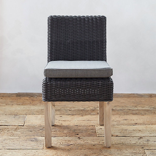 View larger image of All Weather Wicker & Teak Side Chair