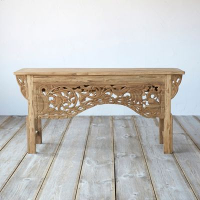 Javanese Teak Console Table, Bird + Bloom