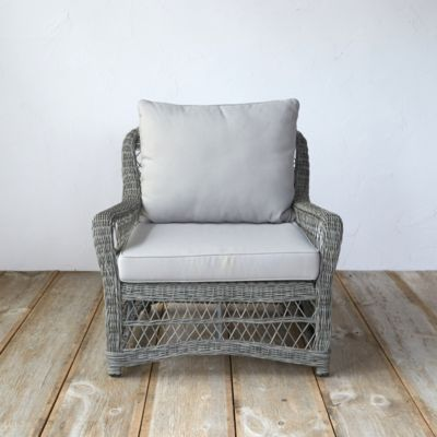Curved All Weather Wicker Armchair
