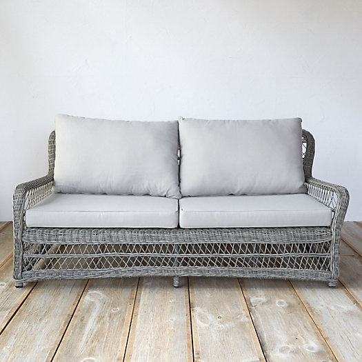 View larger image of Curved All Weather Wicker Sofa
