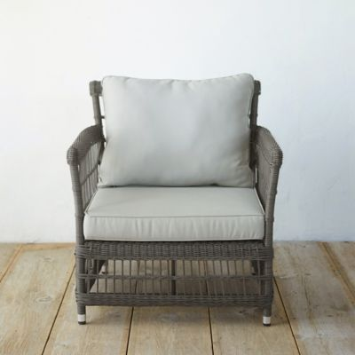 Trellis Weave Wicker Chair
