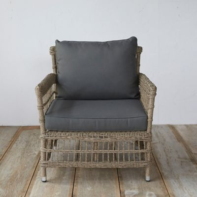 Trellis Weave All Weather Wicker Chair