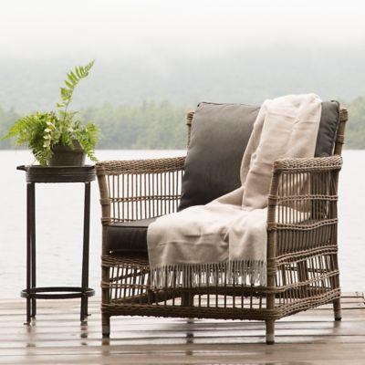 Trellis Weave Wicker Chair