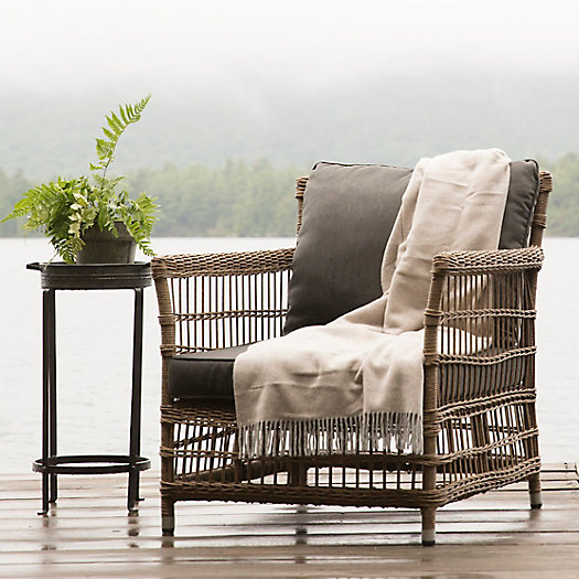 View larger image of Trellis Weave Wicker Chair