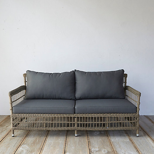 View larger image of Trellis Weave Wicker Two Seat Sofa