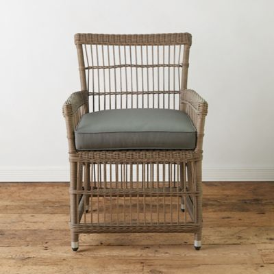 Trellis Weave Wicker Armchair