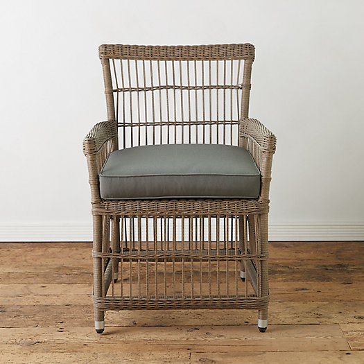 View larger image of Trellis Weave Wicker Armchair