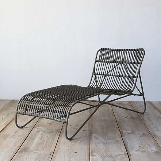 View larger image of Open Weave All Weather Wicker Lounger