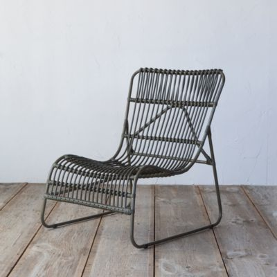 Open Weave All Weather Wicker Armless Chair